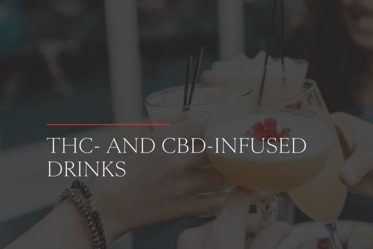 THC- and CBD-infused drinks