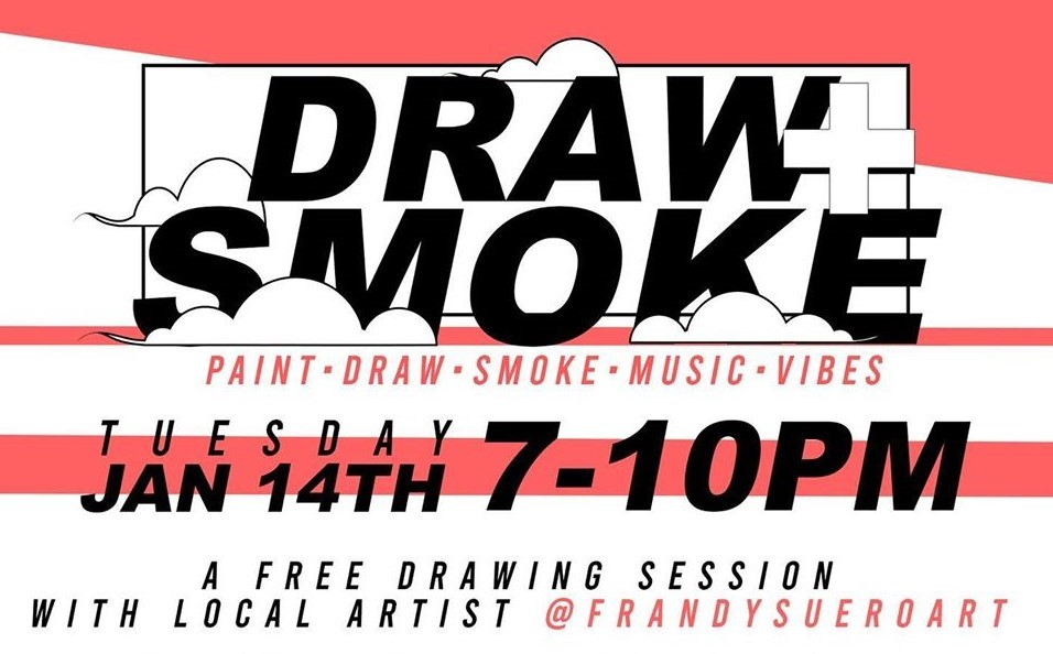 draw and smoke cannabis event