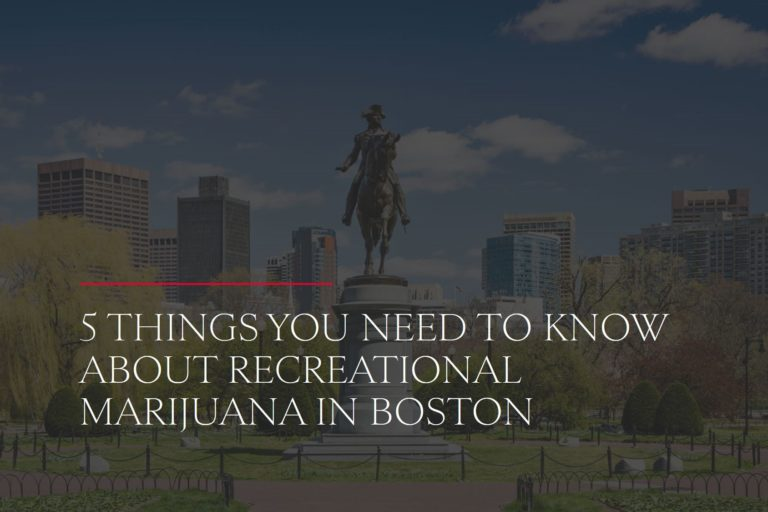 recreational cannabis in boston