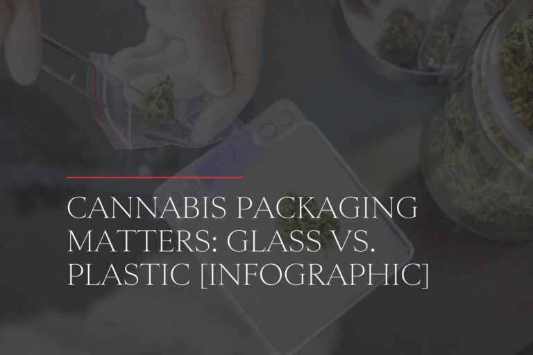 cannabis packaging matters: glass vs. plastic infographic