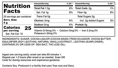 Dark Chocolate Large Nutritional Information
