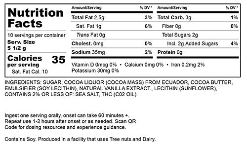 Dark Chocolate Small Nutritional Information