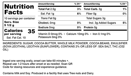 Milk Chocolate Small Nutritional Information